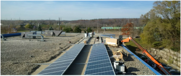 Burlington DC Microgrid Solar and DCDC converters installation