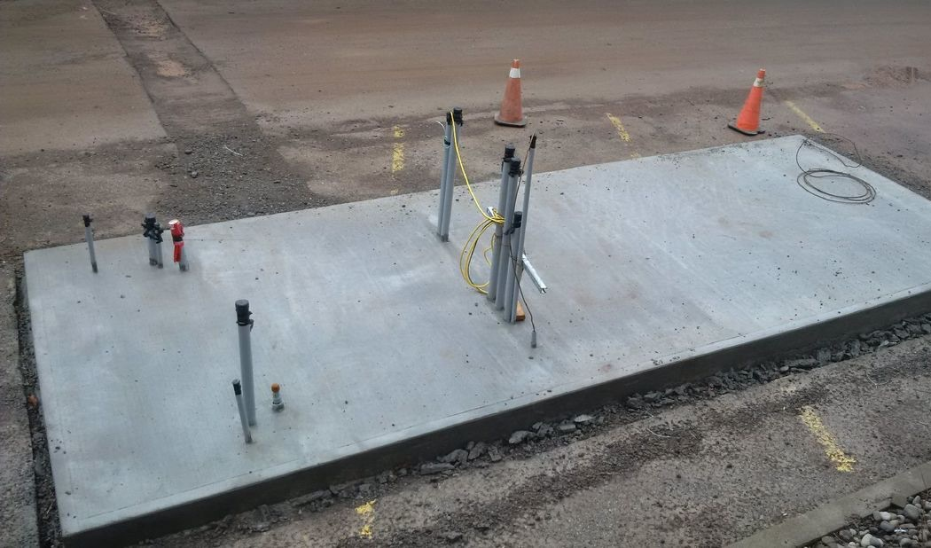 Concrete Pad for Battery and Gas generator at Burlington DC Microgrid project